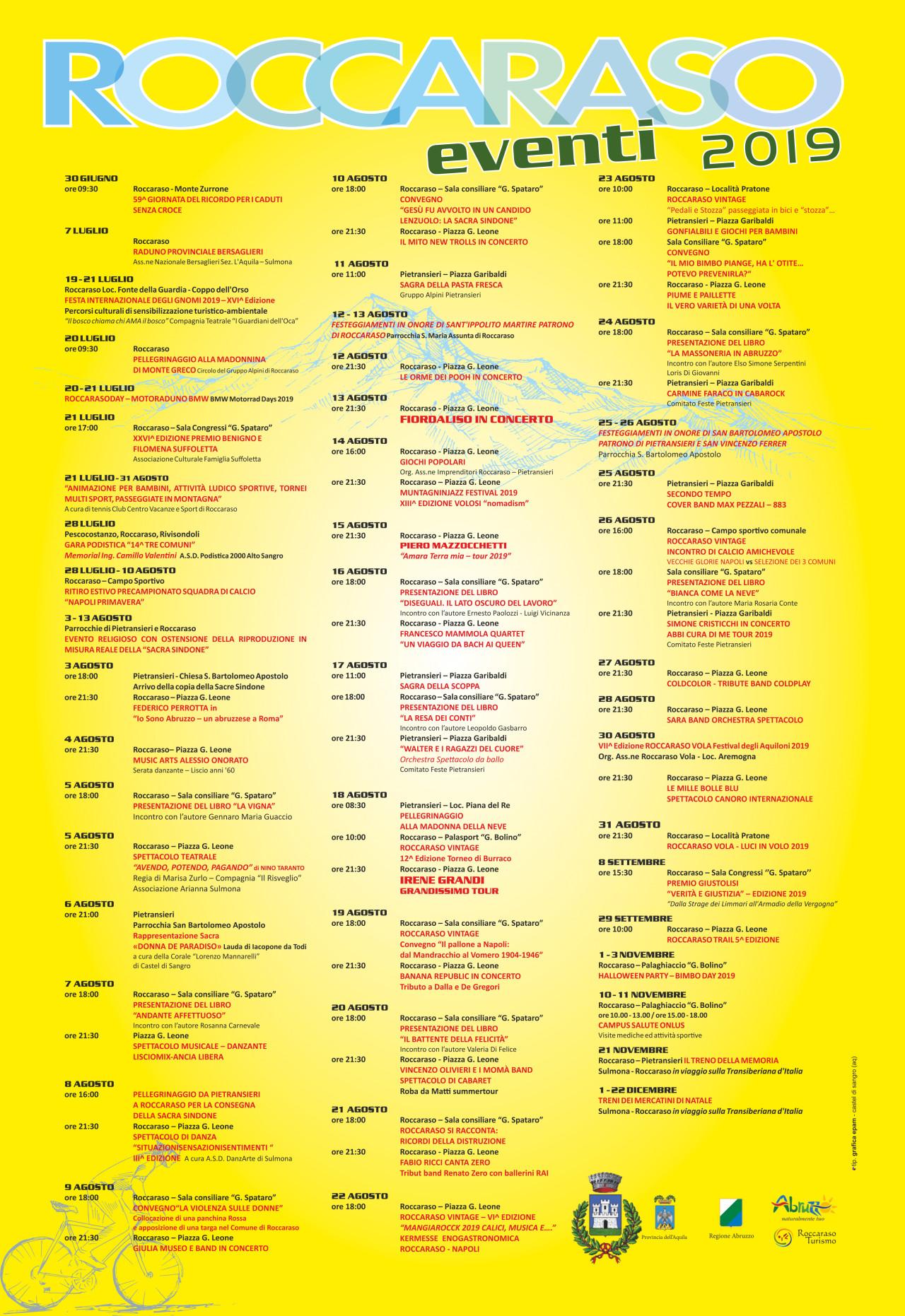 Programma Eventi 2019 - Roccaraso
