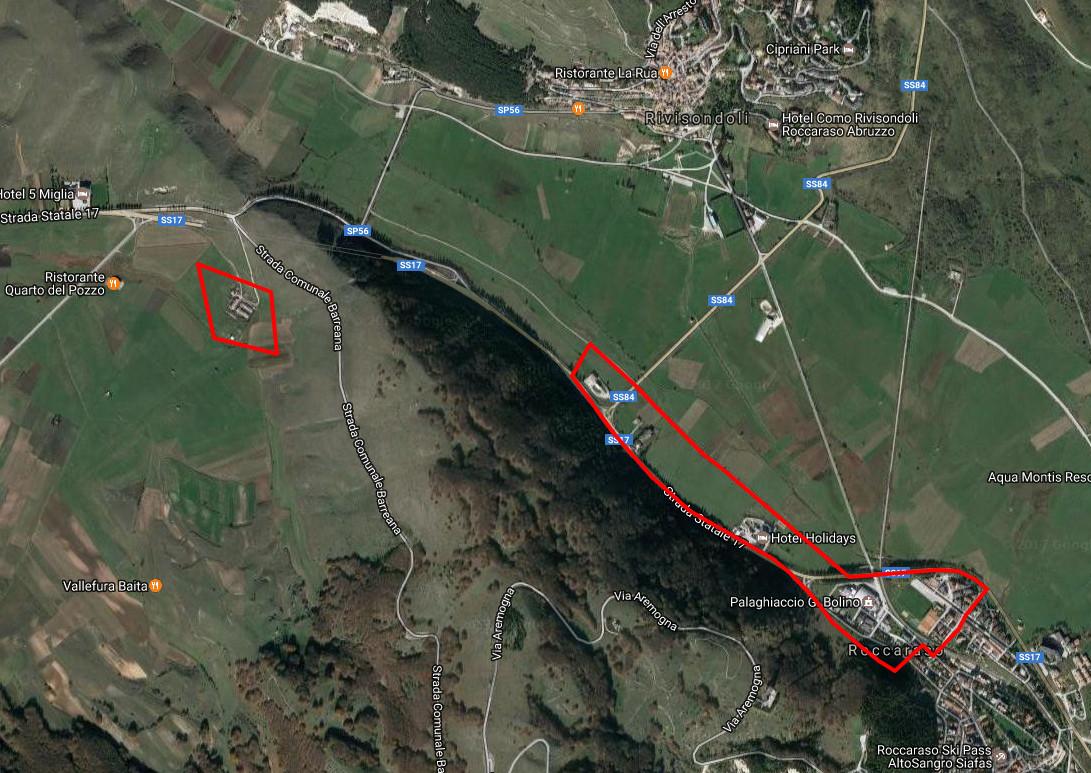 Area di Evacuazione - Fare click per aprire la visualizzazione in Google Maps